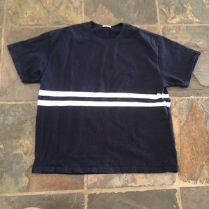 Brandy Melville blue and white striped shirt